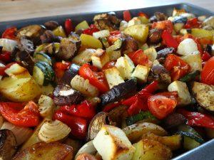 Mediterranes Gemüse aus dem Ofen